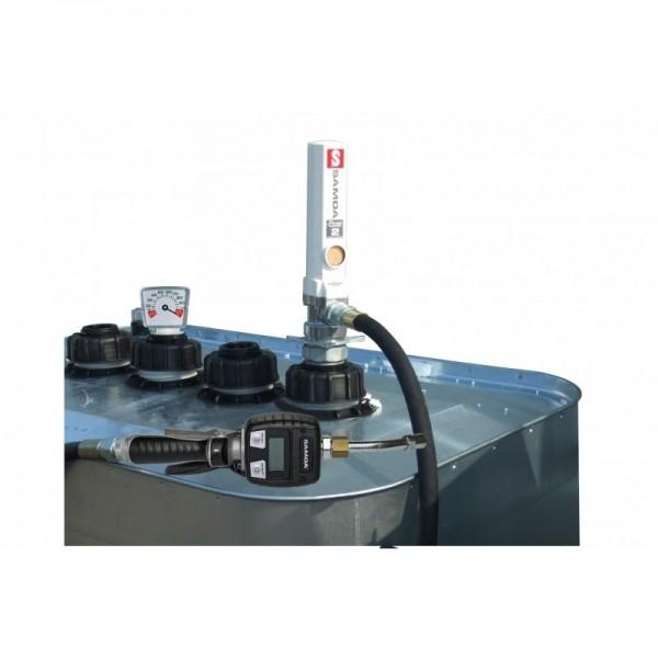 Ölpumpenset - Druckluftpumpe 3:1 - für Tanks - Handdurchlaufzähler
