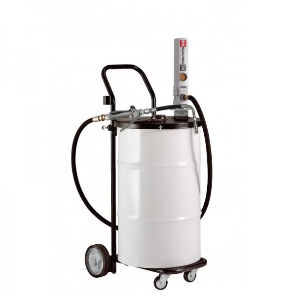 Ölausgabewagen mit Druckluftpumpe für Faßmontage