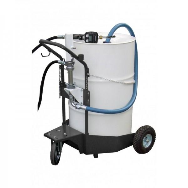 Ölausgabewagen m. pneum. Pumpe, 4mtr. Abgabeschlauch, digitaler HDZ, 2,1m Spiralsaugschlauch
