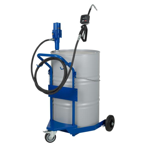 Ölausgabewagen mit Pneumatik-Ölpumpe 3:1 für 200/220 Liter Behälter