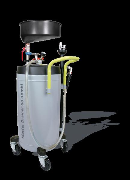 Altölauffangwagen mit Druckluftentleerung und Absauger