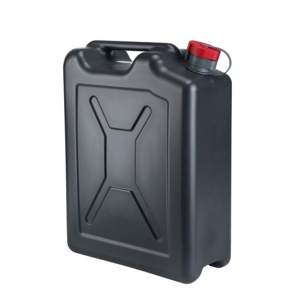 PE Kraftstoffkanister 20l schwarz, m. integriertem Auslauf